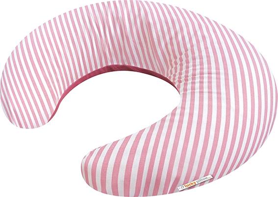 Růžové proužky povlak na kojící polštář