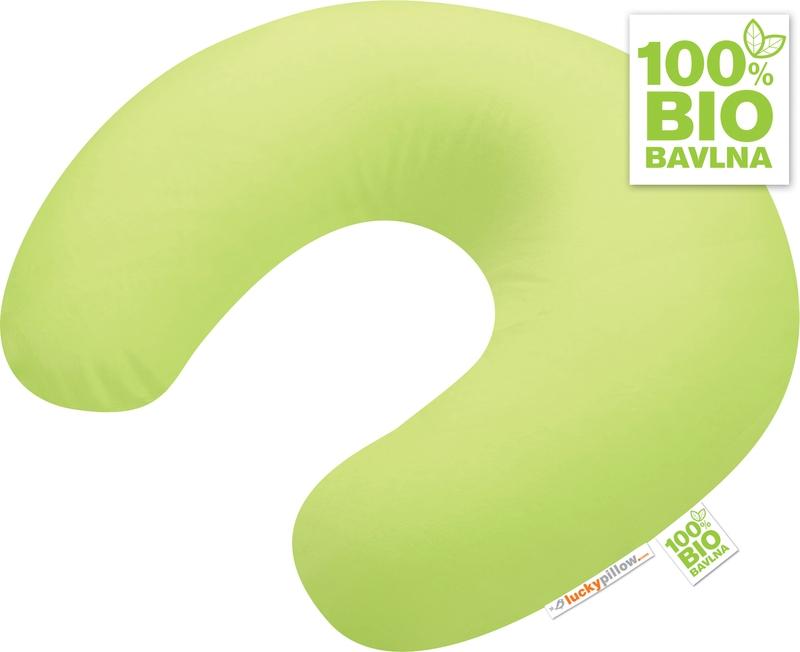 Kojící polštář Lucky Pillow<br />BIO JARNÍ ZELENÁ<br />100 % BIO bavlna