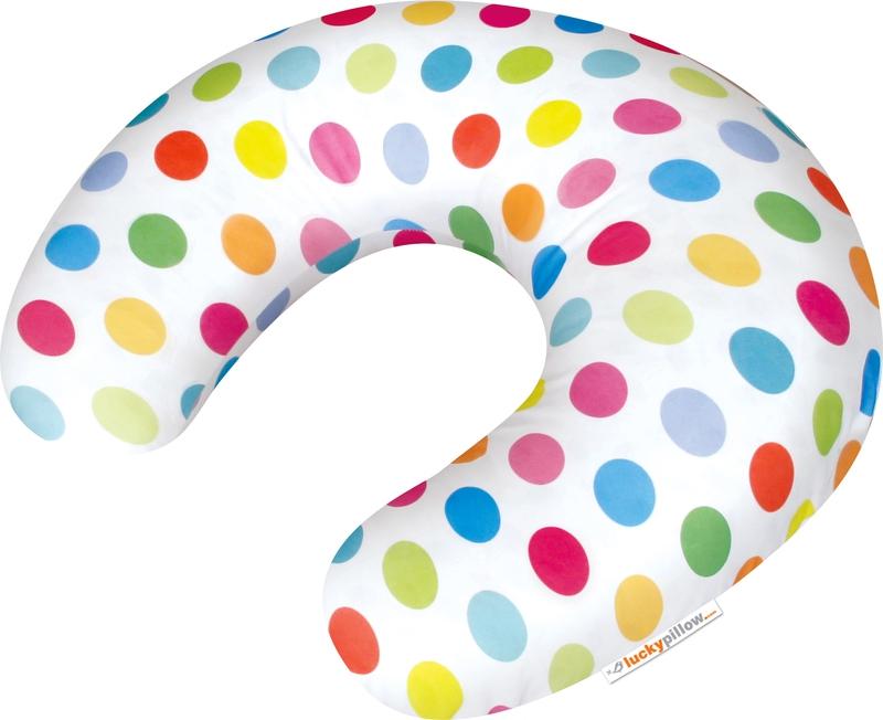 Kojící polštář Lucky Pillow<br />DUHOVÉ PUNTÍKY<br />pestrobarevné