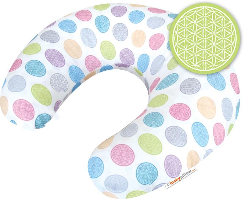 Kojící polštář Lucky Pillow<br />KVĚTINA ŽIVOTA<br />symbol života